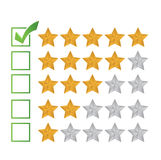 Excellent review rating illustration design. Over a white background royalty free illustration