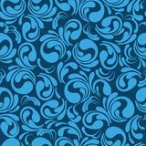 Excellent seamless floral background of blue color. Vector illustration. Stock Image