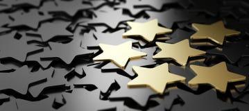 Excellent service client, 6 étoiles d'or illustration de vecteur