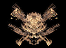 Excellent skull / pirates symbol made from fractals Stock Photos
