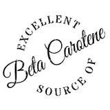 Excellent source of beta carotene stamp Stock Photo