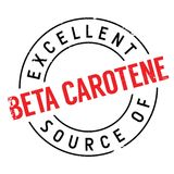 Excellent source of beta carotene stamp Royalty Free Stock Image