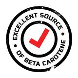 Excellent source of beta carotene stamp Stock Images