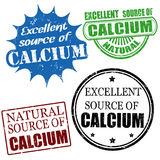 Excellent source of calcium stamps. Set of excellent source of calcium grunge rubber stamps, vector illustration Royalty Free Stock Photography