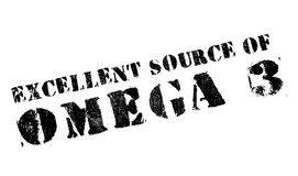 Excellent source of omega 3 stamp Royalty Free Stock Image