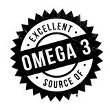 Excellent source of omega 3 stamp Stock Image