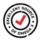 Excellent source of omega 3 stamp. Grunge design with dust scratches. Effects can be easily removed for a clean, crisp look. Color is easily changed Royalty Free Stock Photography