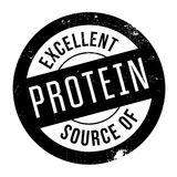 Excellent source of protein stamp. Grunge design with dust scratches. Effects can be easily removed for a clean, crisp look. Color is easily changed Royalty Free Stock Images
