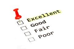 Free Excellent Survey Form Stock Photo - 31348790