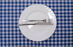 Excellent - table manners. Meal setting Royalty Free Stock Image