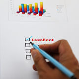 Excellent target, checked with your hand Royalty Free Stock Images