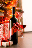 Excellent wine bottle gift Royalty Free Stock Photo