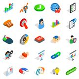 Excellent worker icons set, isometric style Royalty Free Stock Photos