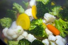 Excellente nourriture cuite à la vapeur de légumes pour la santé et vitamines d'org Photo libre de droits