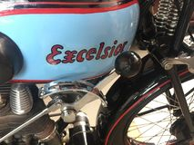 Excelsior classic motorbike stock photo
