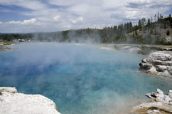 Excelsior Geyser Crater Yellowstone national park. Excelsior Geyser Crater, formerly known as Excelsior Geyser, is a hot spring in the Midway Geyser Basin of royalty free stock photos