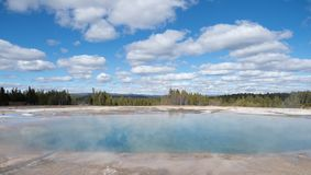Excelsior Geyser Crater in Yellowstone National Park stock images