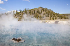 Excelsior geyser pool. At yellowstone national park Royalty Free Stock Photo