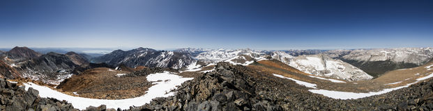 Excelsior Peak Summit Panorama Stock Image