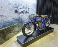 Excelsior serie 20 987cc stor tvilling- 1920 på utställningen i bilmuseet för konung Abdullah II i Amman, huvudstaden av Jordanie royaltyfria foton
