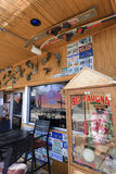 excenterskivan för stenblockstadskaffe shoppar Fotografering för Bildbyråer