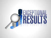 Exceptional business results graph illustration Royalty Free Stock Image