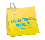exceptional results memo post Stock Photos