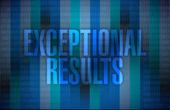 Exceptional results message over a binary Royalty Free Stock Photography
