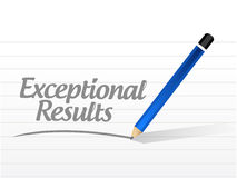 Exceptional results message sign Royalty Free Stock Images