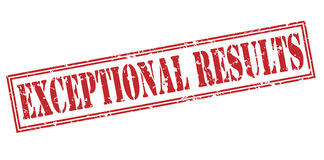 Exceptional results red stamp Stock Images