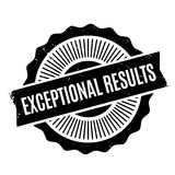 Exceptional Results rubber stamp Stock Images