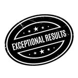 Exceptional Results rubber stamp Stock Image