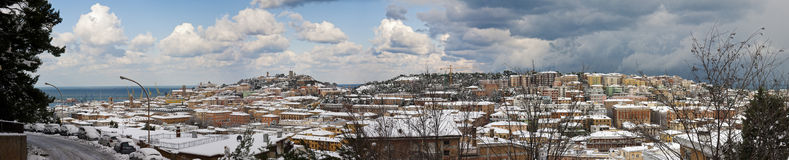 Exceptional snowfall in Ancona. Italy - December 2010 Stock Images