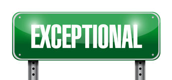 Exceptional street sign illustration design Royalty Free Stock Photos