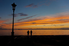 Exceptional sunset Stock Photography