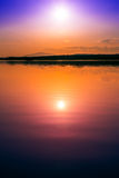 Exceptionally colorful and beautiful sunset Royalty Free Stock Photo