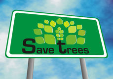 Excepto árvores Imagem de Stock Royalty Free
