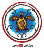 Excepto as tartarugas Fotografia de Stock