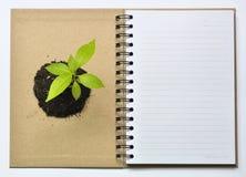 Excepto el ambiente cerca recicle el cuaderno Imagen de archivo