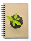 Excepto el ambiente cerca recicle el cuaderno Imágenes de archivo libres de regalías