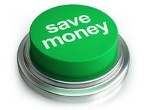 Excepto el botón del dinero Imágenes de archivo libres de regalías