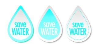 Excepto etiquetas engomadas del agua Foto de archivo libre de regalías