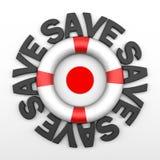Excepto la insignia de Japón Imagen de archivo libre de regalías