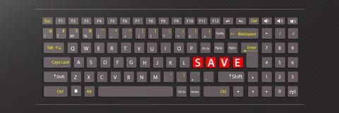 Excepto o conceito teclado da ilustração Fotografia de Stock Royalty Free
