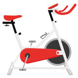 Excercise Bike Illustration Isolated On White Background Royalty Free Stock Image