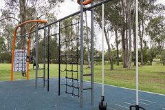 Free Excercise Equipment Provide In Local Park Stock Photography - 116921822