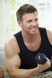 Excercise at home Royalty Free Stock Photo