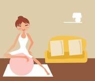 excercising женщина Стоковое Изображение RF
