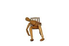 Excesivamente relajándose en una silla Imagen de archivo libre de regalías