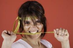 Exceso de peso que lucha Fotografía de archivo